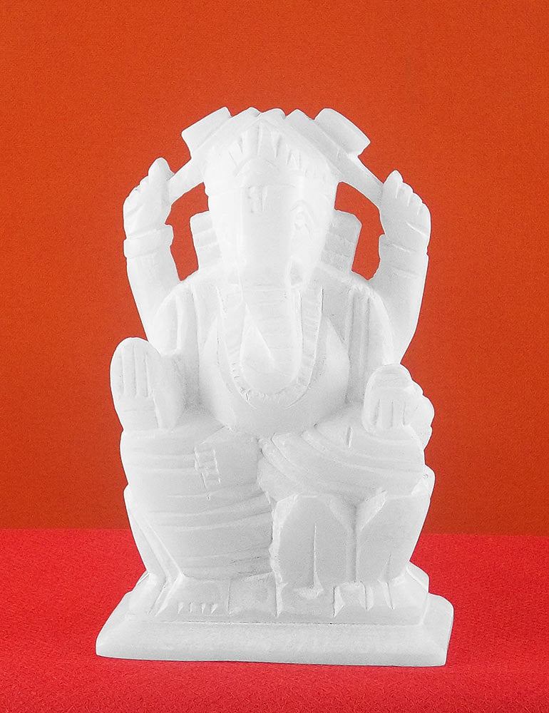 Blessing Lord Ganesha Soft Stone Statue