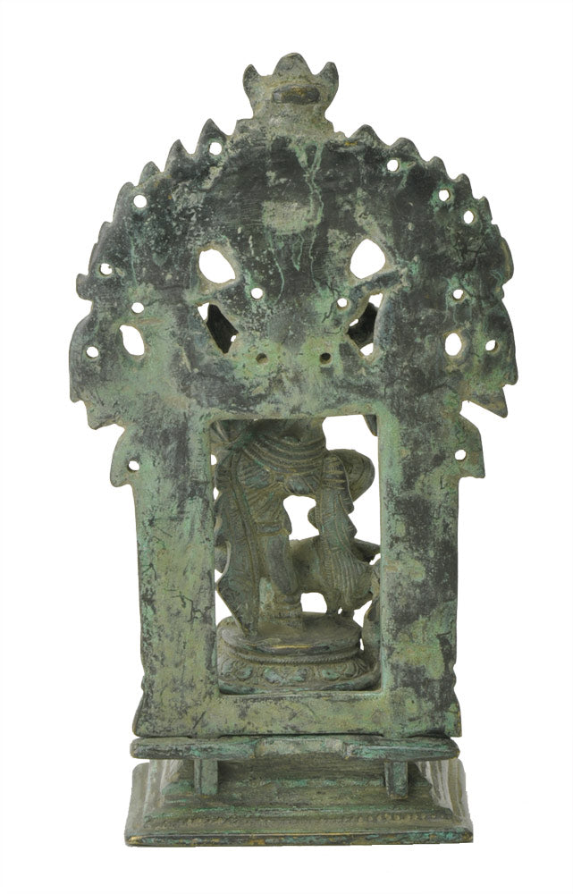 Mahishasurmardini Durga Antiquated Brass Statue 8""