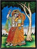Divine Couple 'Sri Radha Krishna' - Batik Painting