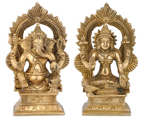 Laxmi and Ganesha for Home Temple 6.50""