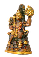 Lord Kesari Hanuman - Painted Brass Statue