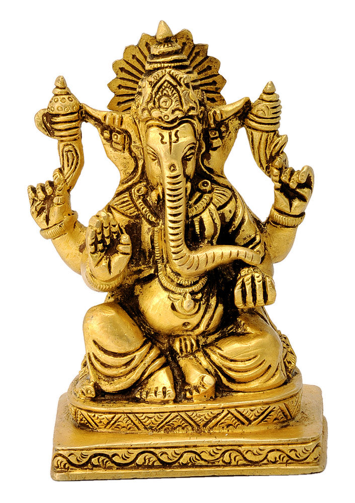 Lord Gajanan Maharaj Exquisite Brass Figure