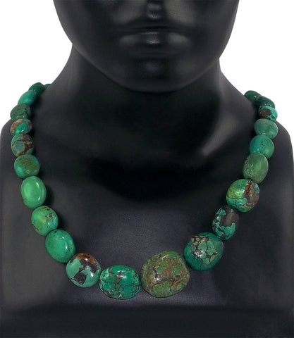 Dynamic Girl Necklace - Reconstituted Turquoise Fusion Jewelry