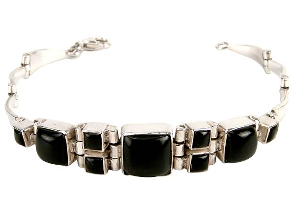 Deep Love - Black Onyx and Silver Bracelet
