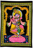 God Krishna & Radha Rani Jugal - Beautiful Fabric Tapestry