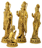 Brass Sri Rama Darbar Set in Golden Finish