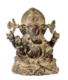 Lord Ganesha Antique Finish Figurine