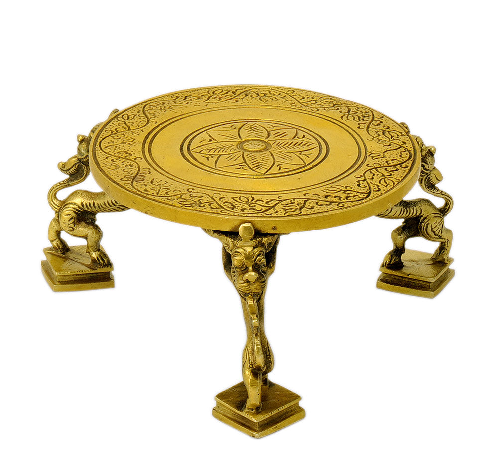 Decorative Brass Chowki