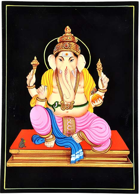 Lord Gajavakra - Nirmal Painting 10.50""