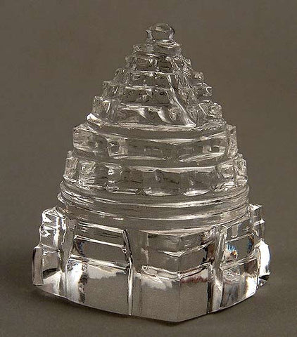 Shree Yantra - Hand Crafted Quartz Crystal 1.5""