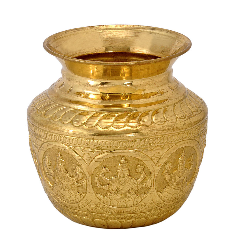 Ashta Lakshmi Carved Puja Lota