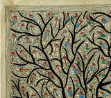 Rejoicing Birds - Madhubani Painting