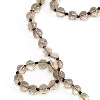 Smoky Quartz Japa Mala - 108+1 Beads