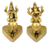 Laxmi Ganesha Brass Lamps for Temple