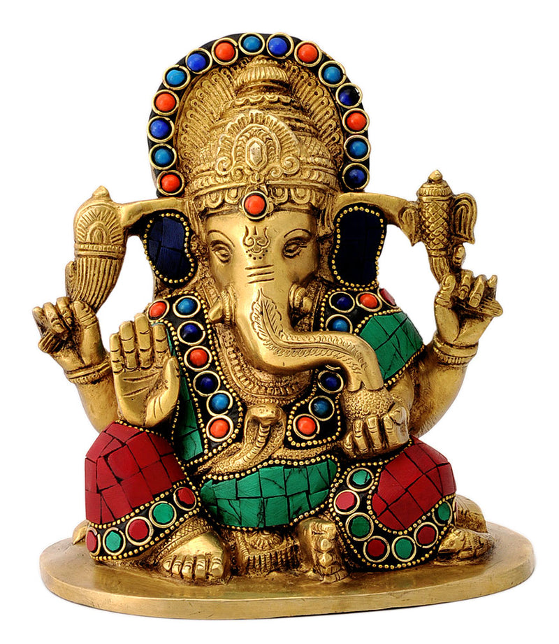 Seated Abhaya Ganesha