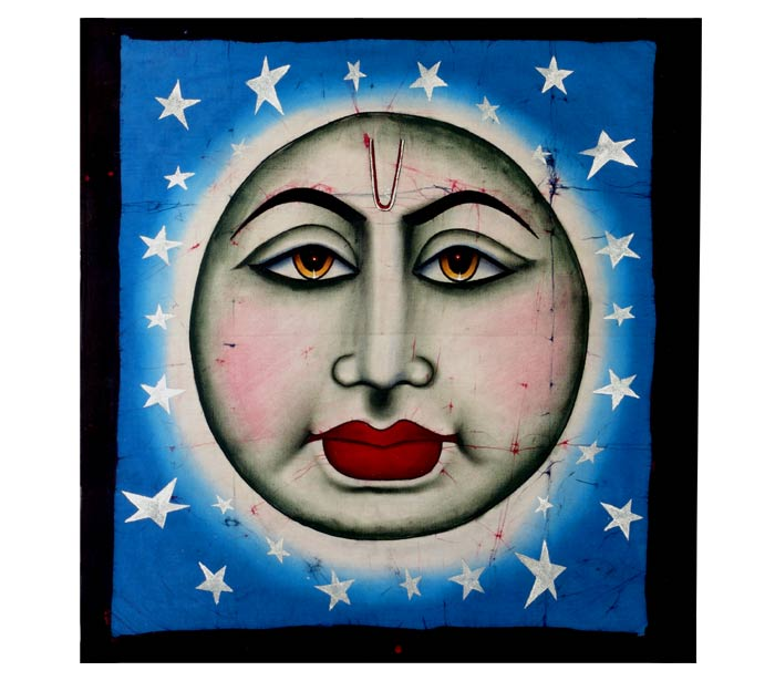 'The Moon' Batik Painting
