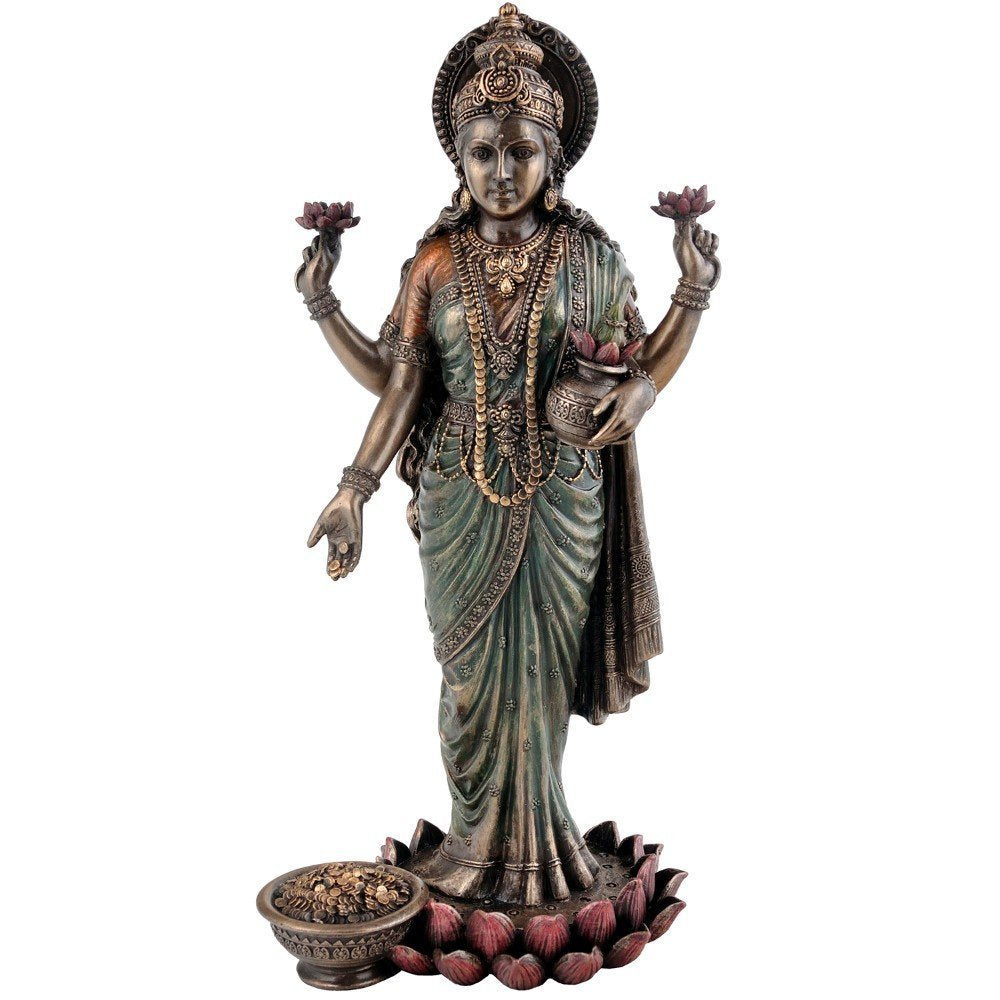 Standing Devi Lakshmi Very Fine Finish Sculpture 10""