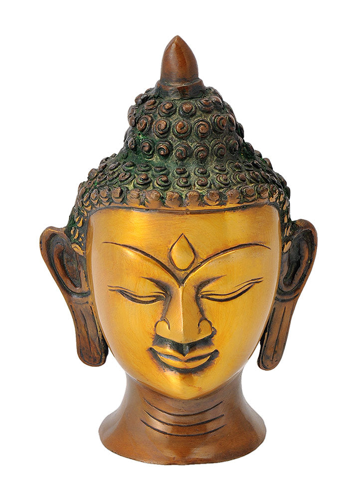 Decorative Serene Buddha Head Statue 6""