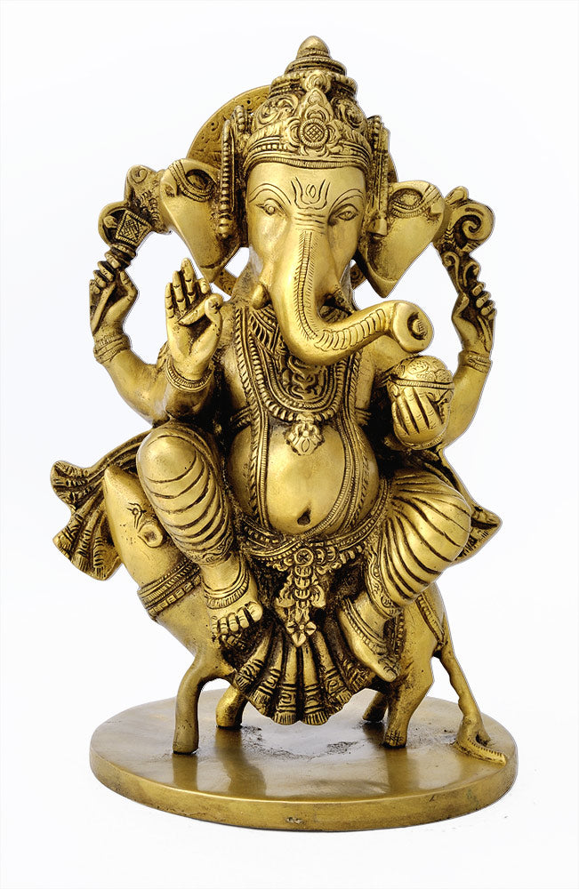 Ganesha Riding Upon His Rat 10""