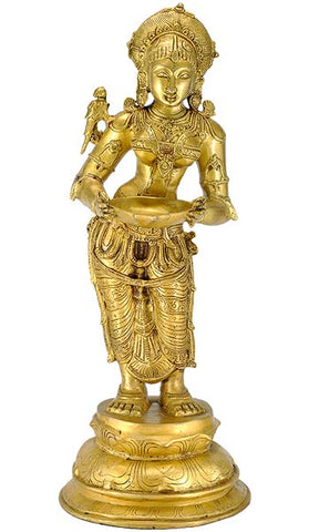 Deeplakshmi - Brass Sculpture 23""