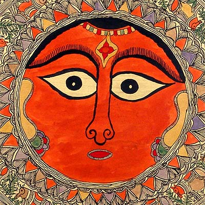 Mother Goddess - Madhubani Painting