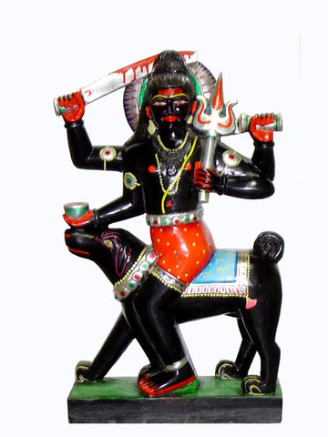 Kaal Bhairav-Black Stone Sculpture 18""