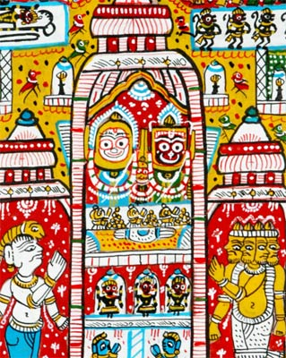 Scene of Lord Jagannath Temple 18""