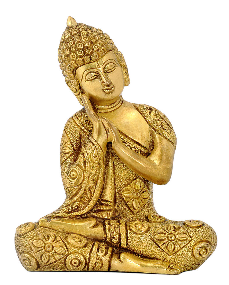 Brass Carved Fine Resting Buddha Statue