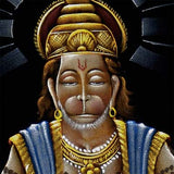 """Great Devotee Lord Hanuman"" Velvet Handmade Painting"