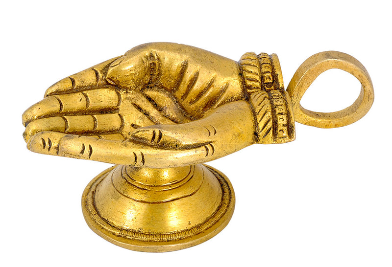 Hand Shaped Diya Lamp for Puja Room