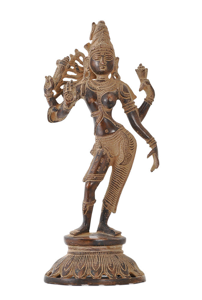 God Ardhanarishwara - Antiquated Brass Figure