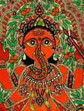 God Ganesha - Handmade Folk Art Painting