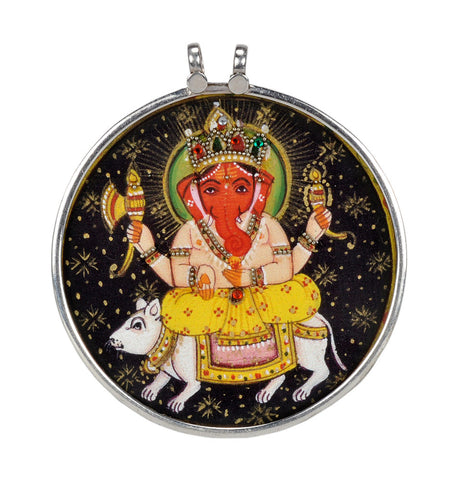 Lord Ganesh Ride on a Rat -  Pendant