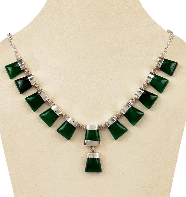 Green Enchantment - Onyx Necklace