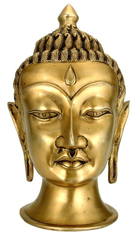 The Great Buddha - Brass Sculpture 12""