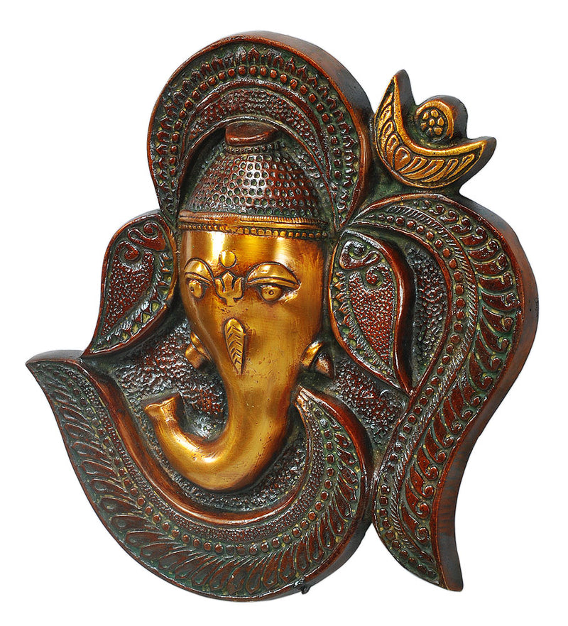 Om Ganesha Brass Wall Hanging