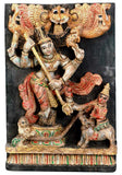 Shiva Protected Markandeya - Wooden Panel
