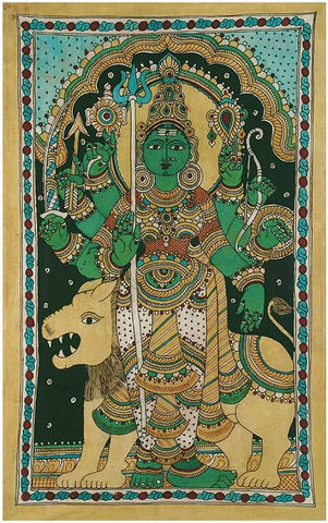 Devi Durga Folk Art Painting