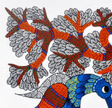 Bird Family - Gond Tribal Painting