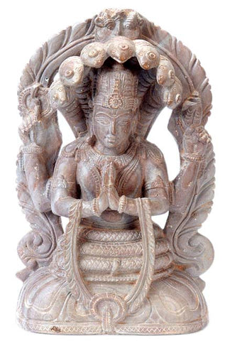 Enlighten Guru Patanjali - Stone Statuette