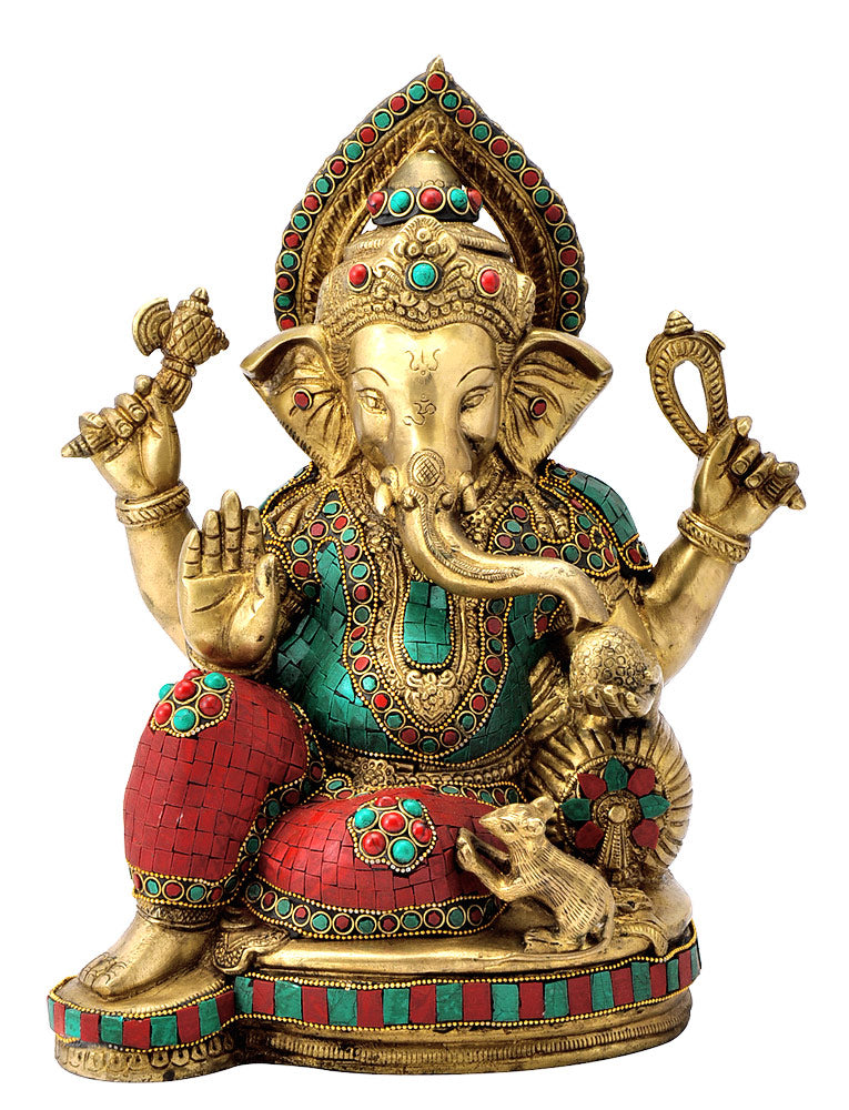 Decorative Lord Ganesha Brass Sculpture