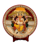 Seated Lord Ganesha - Marble Painting