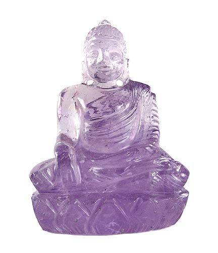 Earth Witness Buddha - Amethyst Gemstone Statue