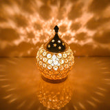 Akhand Diya Decorative Brass Crystal Oil Lamp
