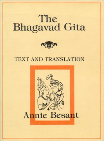 Bhagavad Gita - Text and Translation: The Lord's Song (Hardcover) By Annie Besant