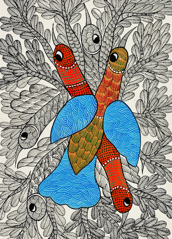TEEPRO Bird - Gond Painting