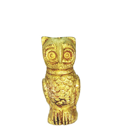 Brass Small Owl Showpiece set of 2