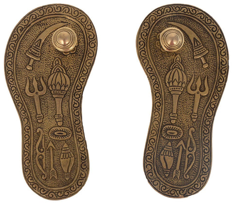 Hand-crafted God Charan Paduka Brass