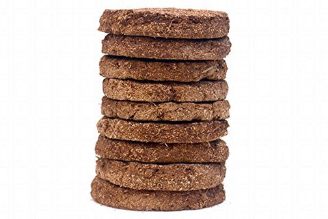 Cow Dung Round Cake(Brown) 24-Pc. 130mm