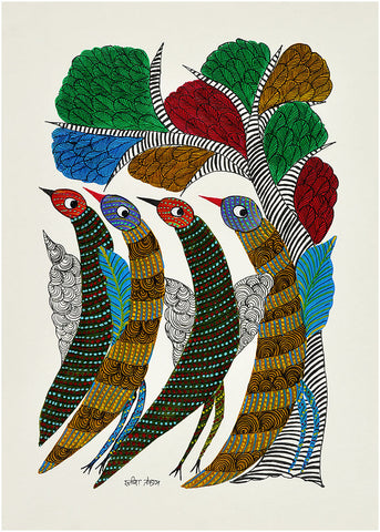 Birds Gond Painting